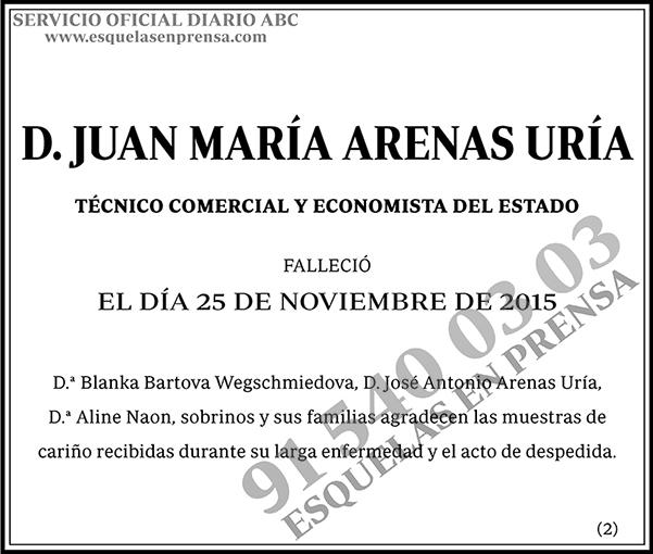 Juan María Arenas Uría